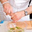 Chef preparing salad — Stock Photo #5468232
