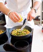 Chef preparing food — Stock Photo