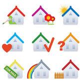 House. Set — Stock Vector