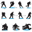 Royalty-Free Stock Vector Image: Hockey Silhouettes