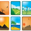 Stock Vector: Nature cards