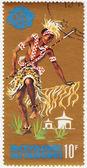 Burundi Tribal Dancers and musician — Stock Photo