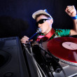 cool dj in action — Stock Photo