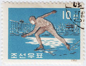 Korea sportsman skater — Stock Photo