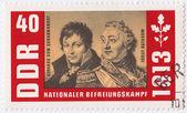 Gerhard von Scharnhorst (L) and Kutuzov — 图库照片