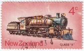 Old train locomotive class X — Stock Photo