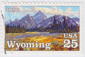 USA shows State of Wyoming — Stock Photo
