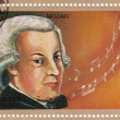 Wolfgang Amadeus Mozart - Stock Photo