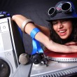 cool dj in action — Stock Photo #5491974