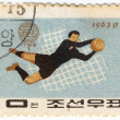 North Korea football player — Stockfoto