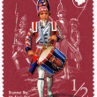 Drummer Boy 4 th King&#039;s Own Regiment 1759 - Stockfoto