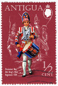 Drummer Boy 4 th King's Own Regiment 1759 — Stock Photo