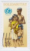 Unicef symbol i czysty dzieci — Zdjęcie stockowe