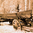 Stock Photo: Antique cart in old western