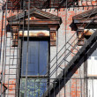 Stairway outside of old building in New York City Manhattan apar - Stock Photo