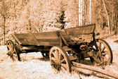 Antique cart in old western — Stock Photo