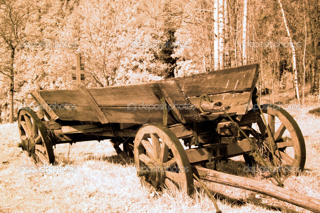 Antique cart in old western  — Stock Photo #5664744