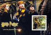 Daniel Radcliffe as Harry Potter and The Chamber of Secrets in film poste — Stock Photo