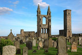 St Andrews cathedral grounds, GB — Stock Photo