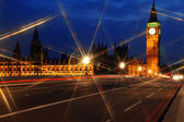 Big Ben and the House of Parliament at night, London, GB — Stock Photo
