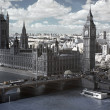 Big Ben and the House of Parliament in London, GB - Stock Photo