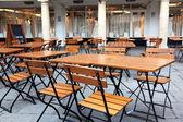 Classic european street cafe — Stock Photo