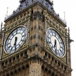 Big Ben isolated on white, London gothic architecture, GB — Foto Stock