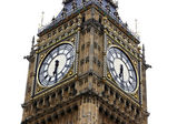 Big Ben isolated on white, London gothic architecture, GB — Stock Photo