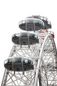 London eye isolated on white, UK — Stock Photo