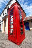 Caixa de telefone vermelho tradicional em londres, reino unido — Foto Stock