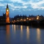 Биг Бен и здание парламента в ночь, Лондон, Великобритания — Стоковое фото