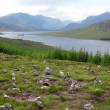 North part of  Scotland end of Loch Shiel, GB - Stock Photo