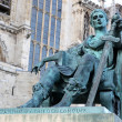 Statue of Constantine I outside York Minster in England , GB — Stockfoto