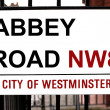 Abbey Road sign - Stock Photo