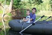 Little Boys Boating — Stock Photo