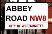 Abbey Road sign — Stock Photo