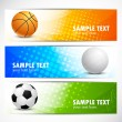 Set of sport banners - Grafika wektorowa