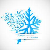 Snowflake with debris — Stock Vector