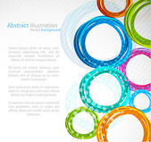 Abstract colourful circle — Stock Vector