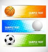 Set of sport banners — Stock Vector