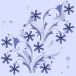 Royalty-Free Stock Vector Image: Blue flowers.