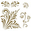 Stock Vector: Ornament vector elements.