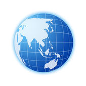 Blue world globe 2 — Stock Photo