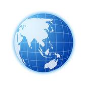 Blue world globe 2 — Stock Photo