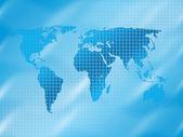 Vierkante wereldkaart 4 — Stockfoto