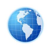 синий глобус 3 — Стоковое фото