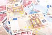 Euro banknotes background — Stock Photo