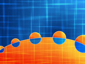 Orange blue wallpaper — Stock Photo