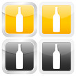 Square icon bottle — Stock Vector