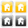 Square icon house — Stock Vector #5546776